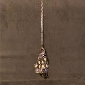 Necklace with peacock pendant